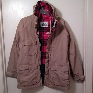 Woolrich Tan Hooded Jacket